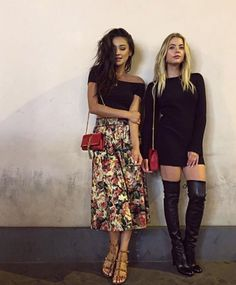 Pretty Little Liars stars Shay Mitchell and Ashley Benson enjoy lunch Le Style Shay Mitchell, Estilo Shay Mitchell, Pll Outfits, Summer Outfits, Casual Outfits, Cute Outfits, Ashley Benson Style, Ashely Benson, Pretty Little Liars Outfits