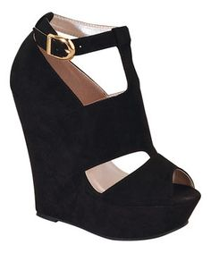 Love this Black Andrea Wedge by I Heart Footwear on #zulily! #zulilyfinds