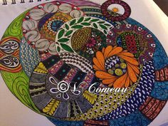 My first all color piece! All The Colors, My Drawings, Zentangle, Pencil, Sketch, Velvet, Inspired, Inspiration, Art