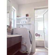 Bathroom/お風呂/洗濯機周り/洗濯機/洗濯機まわり/jhonmasters organics...などのインテリア実例 - 2018-01-08 00:15:14 | RoomClip (ルームクリップ)