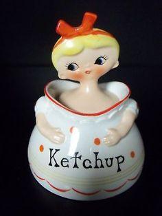 VTG MENCHIK GOLDMAN HOLT HOWARD PIXIEWARE KETCHUP JAR