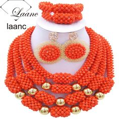 Find More Jewelry Sets Information about African Costume Dubai Bridal Jewelry Sets Coral Color Crystal laanc AL032,High Quality jewelry organic,China jewelry prongs Suppliers, Cheap jewelry news from laanc african beads Store on Aliexpress.com