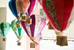 fabric + balloons = <3