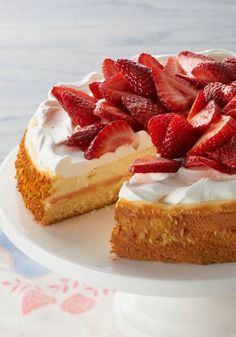 Strawberry Shortcake Cheesecake – Have your shortcake and eat your cheesecake, too! This strawberry-topped dessert recipe has layers of both.
