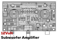 12V Power Amplifier Subwoofer using TDA7388 IC Home Theater Amplifier, Car Audio Amplifier, Subwoofer Speaker, Class D Amplifier, Amplificador 12v, Electronic Circuit Design, Power Supply Circuit, Easy Guitar, Circuit Diagram