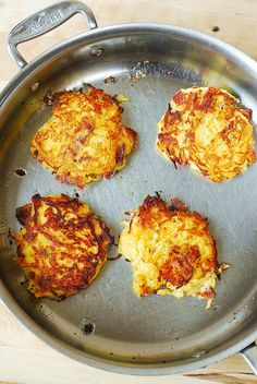 Bacon, Spaghetti Squash, and Parmesan Fritters from Julia's Album