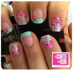 Pin de anna en nails nails, cute nails y gel nails. Pink Nails, Gel Nails, Cute Nails, Pretty Nails, Happy Nails, Creative Nail Designs, Manicure E Pedicure, Flower Nail Art, Nail Decorations