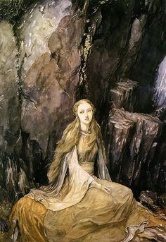 "oldpainting: "" loki-mindfucks: "" Alan Lee ~ The Mabinogion ~ Medieval Welsh Tales translated by Gwyn Jones and Thomas Jones ~ Dragon's Dream ~ 1982 "" I love this artist. Alan Lee, Tolkien, Celtic Mythology, Faeries, Illustrators, Fantasy Art, Dark Fantasy, Book Art, Fairy Tales"