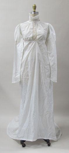 British Dress 1807 Cotton
