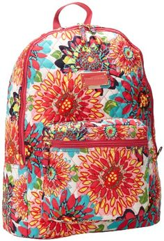 Tommy Hilfiger Splashy Floral Large Backpack,Pink/Multi Splashy Floral,One Size | Women's Handbags & Wallets