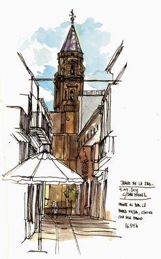Urban Sketchers Spain. El mundo dibujo a dibujo.: ¡ÁMONO, ÁMONO, PA JERÉ, PA JERÉ, DE LA FRONTERA!