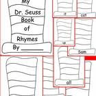 Awesome Dr. Seuss Day activity! My Dr. Seuss Book of Rhymes Writing Book is common core aligned for Kindergarten or 1st grade and includes a 9 pages (including cover).  Students ...