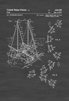 Periscope patent 1920 periscope blueprint vintage submarine outrigger sailboat patent print sailboat decor boat blueprint naval art sailor gift nautical decor outrigger patent malvernweather Choice Image