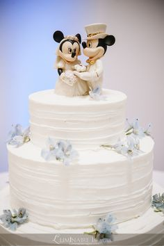 Minnie and Mickey wedding cake toppers