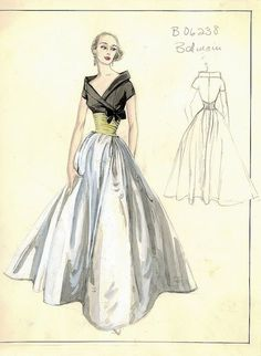 Image result for 1950's couture
