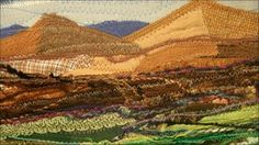 Josie Russell landscape made from recycled textiles....city landscape may work well too - Bristol suspension?