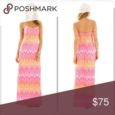 Lilly Pulitzer Avalon Hotty Pink Lace Maxi Dress Lilly Pulitzer Avalon Spaghetti Strap Lace Maxi Dress in Hotty Pink and Size Medium.  The Avalon knit lace maxi dress is the ultimate resort maxi dress. Wear this for dinner or a party on the beach. No shoes required.  Spaghetti Strap (Adjustable Straps) Lace Maxi Dress.  Marbleized Knit Lace (100% Polyester).  Machine Wash Warm, Delicate Cycle.  Excellent preowned condition.  Offers welcomed!  P17 Lilly Pulitzer Dresses Maxi