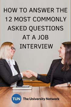 You'll be set for your interview if you know how to answer these 12 common job interview questions! Typical Job Interview Questions, Common Job Interview Questions, Interview Questions And Answers, Job Interview Tips, Interview Preparation, Job Interview Clothes, Job Resume, Resume Tips, Resume Skills