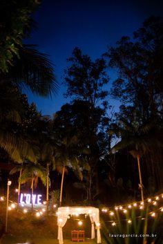 Varal de lâmpadas, casamento no campo, casamento ao ar livre