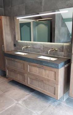 New Bath Room Grey Furniture Decorating Ideas Ideas Rustic Master Bathroom, Attic Bathroom, Modern Bathroom, Grey Furniture, Furniture Decor, Bathroom Sink Tops, Tiny Bath, Window In Shower, Wood Interior Design
