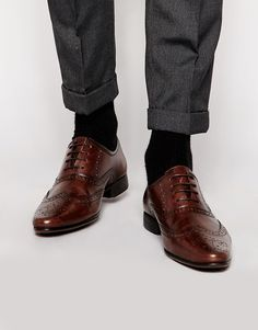 ASOS+Oxford+Brogue+Shoes+in+Leather