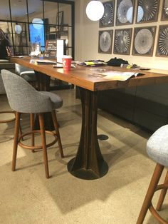 Industrial Style Conference Table with an awesome unique base! #conferencetable #neocon2015 #allaboutthatbase