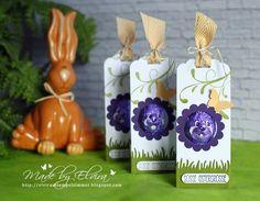 Osterverpackung für den lila Schmunzelhasen mit Produkten von Stampin Up