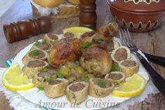 tajine de champignon-roulé de poulet a la viande - Amour de cuisine