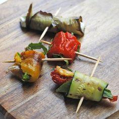 aperitivos vegetales a la plancha