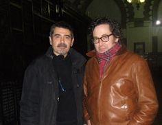 Más reencuentros con amigos, gracias a esta gira de presentaciones. Aquí en Toledo con José Antonio García-Villarrubia, gran amigo y excelente pintor.