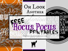 The Organized Dream: Free Hocus Pocus Printables