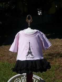 je t'aime Eiffel Tower Baby Tshirt Dress by stitchcottage on Etsy, $22.00