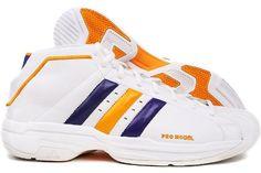 adidas Men's Pro Model 2G NBA Lakers Basketball Shoe,White/White,19 M