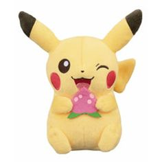 This is a Pokemon Life Picnic Strawberry Pikachu 5 inch Plush Figure. This Pokemon Pikachu Plush is very well made and a great collectible for any Pokemon fan. Just look at him! Super cute! It's an of