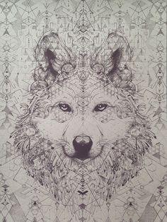 """starwolf"" limited edition screenprint — kris davidson spirit animal"