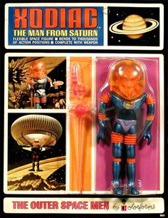 ACTION FIGURE ROUNDUP PRESENTS CLOSE ENCOUNTERS Visions Of Colorforms The Outer Space Men Circa 1968 Xodiac The Man From Saturn
