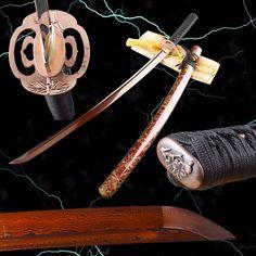 Lin Folded Red Steel Katana Samurai Sword