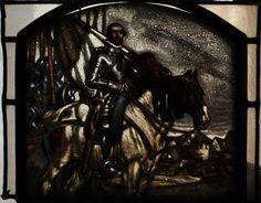 Bleiverglasung Jugendstil Glasmalerei um 1900  (2)