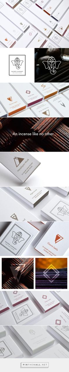 Sacred Elephant Incense packaging designed by Clik (UK) - http://www.packagingoftheworld.com/2016/02/sacred-elephant-incense.html