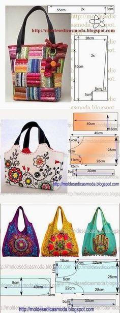 20 Ideas For Sewing Bags Diy Tote Handbags Bag Patterns To Sew, Tote Pattern, Sewing Patterns, Wallet Pattern, Diy Bags No Sew, Japanese Knot Bag, Diy Handbag, Patchwork Bags, Fabric Bags