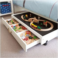 A Fun Packed Under the Bed Play Table with Drawers