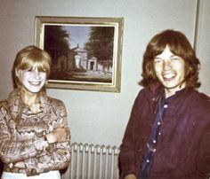 Marianne Faithfull & Mick Jagger Tumblr