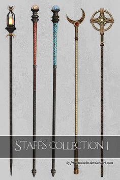 Staffs Collection 1 by frozenstocks on deviantART