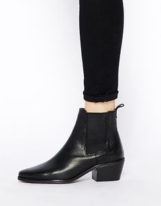 Image 4 of Dune Petra Black Pointed Chelsea Boots