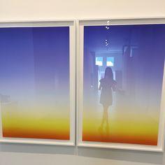 "Gabé Hirschowitz at Berlin-based artist Stefan Heyne's exhibit ""Super Vision: The New German Abstraction"" at Diane Rosenstein Gallery, Los Angeles, February 24, 2017"