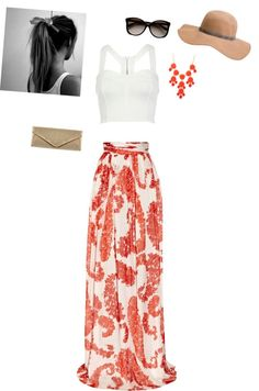Love this outfit for a day on the boardwalk. Lovin' the skirt, I'd change the shirt.