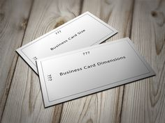We explain the standard business card size of the modern business card. Business Card Dimensions, Standard Business Card Size, Modern Business Cards, Card Sizes, Card Holder, Cards Against Humanity, Microsoft Word, Inspiration, Big