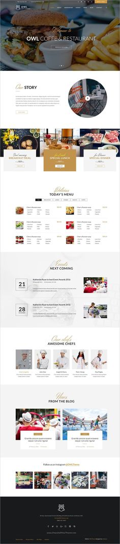 OWLTheme is an elegant #PSD template designed for #webdev #restaurants, Coffee & #bars website download now➩ https://themeforest.net/item/owltheme-cafe-restaurant-psd-template/18746920?ref=Datasata