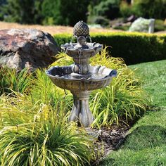 Universal Lighting and Decor Patella Three-Tier Courtyard Fountain ($286) ❤ liked on Polyvore featuring home, outdoors, garden fountains, fountains, red, 3 shelf, 3 shelves, universal lighting and decor and three shelf