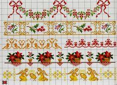 Орнаменты и бордюры, схемы для вышивки крестом. Ornaments